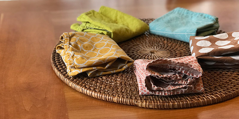 "La serviette de table réutilisable en tissu – ou la serviette""ma-ma-miiiia""!"